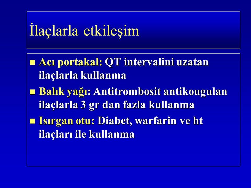 Acı portakal: QT intervalini uzatan ilaçlarla kullanma Acı portakal: QT intervalini uzatan ilaçlarla kullanma Balık yağı: Antitrombosit antikougulan i