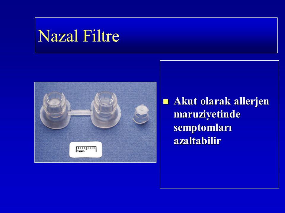 Akut olarak allerjen maruziyetinde semptomları azaltabilir Nazal Filtre