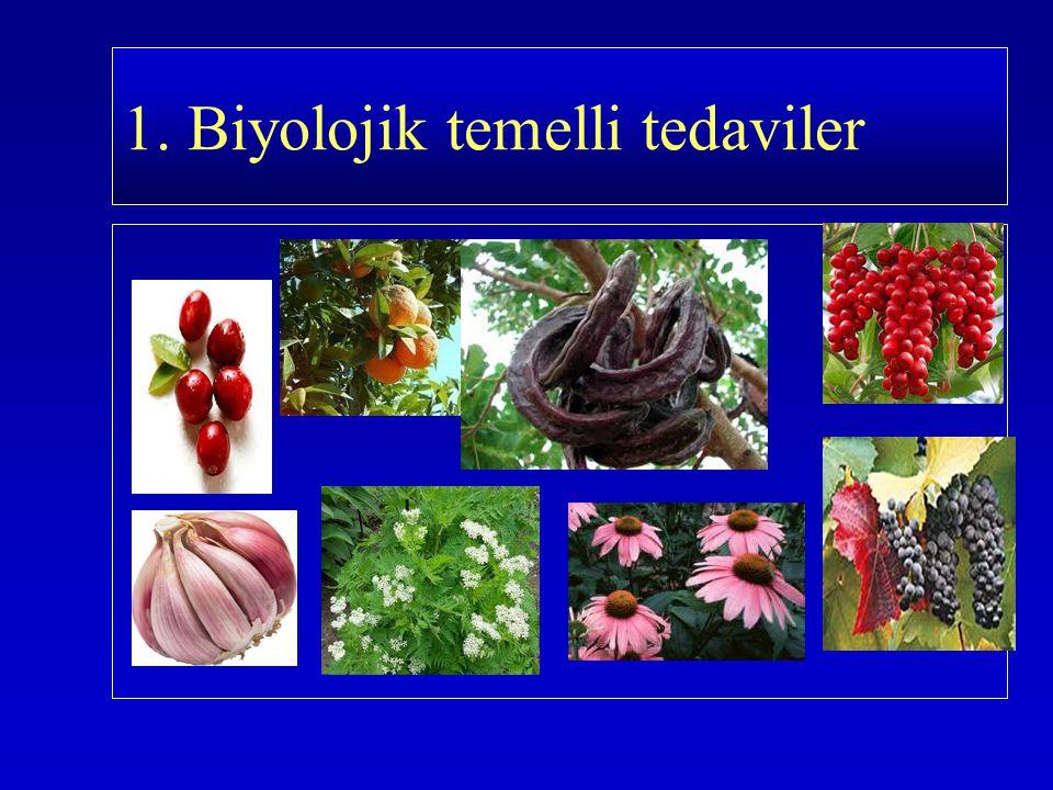Şifalı bitkiler Şifalı bitkiler Antioksidanlar Antioksidanlar Vitaminler Vitaminler Yağ asitleri Yağ asitleri Probiotikler Probiotikler Biyolojik Temelli Tedavi