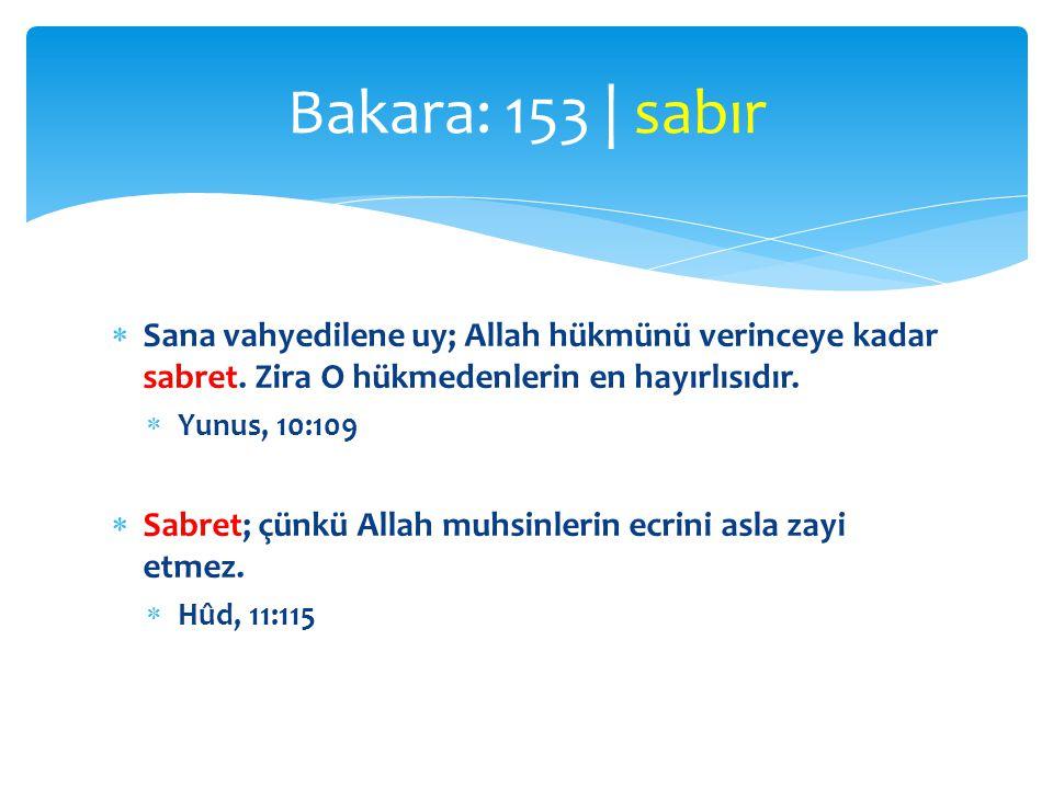  Sen sabret; senin sabrın da ancak Allah'ın yardımıyladır.