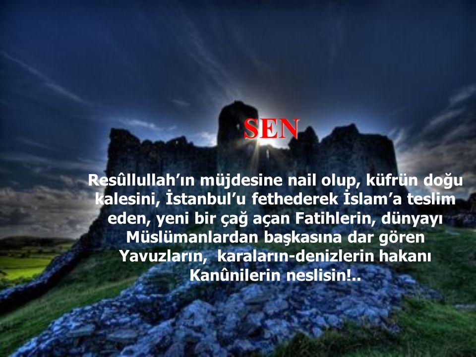 Alemlere rahmet olarak gönderilen ve dehşetli mahşer günü herkesin Nefsi.