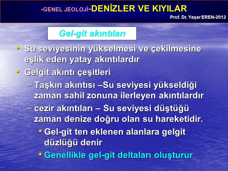 GENEL JEOLOJİ -DENİZLER VE KIYILARGENEL JEOLOJİ -DENİZLER VE KIYILAR Prof. Dr. Yaşar EREN-2012 Gel-git akıntıları Su seviyesinin yükselmesi ve çekilme