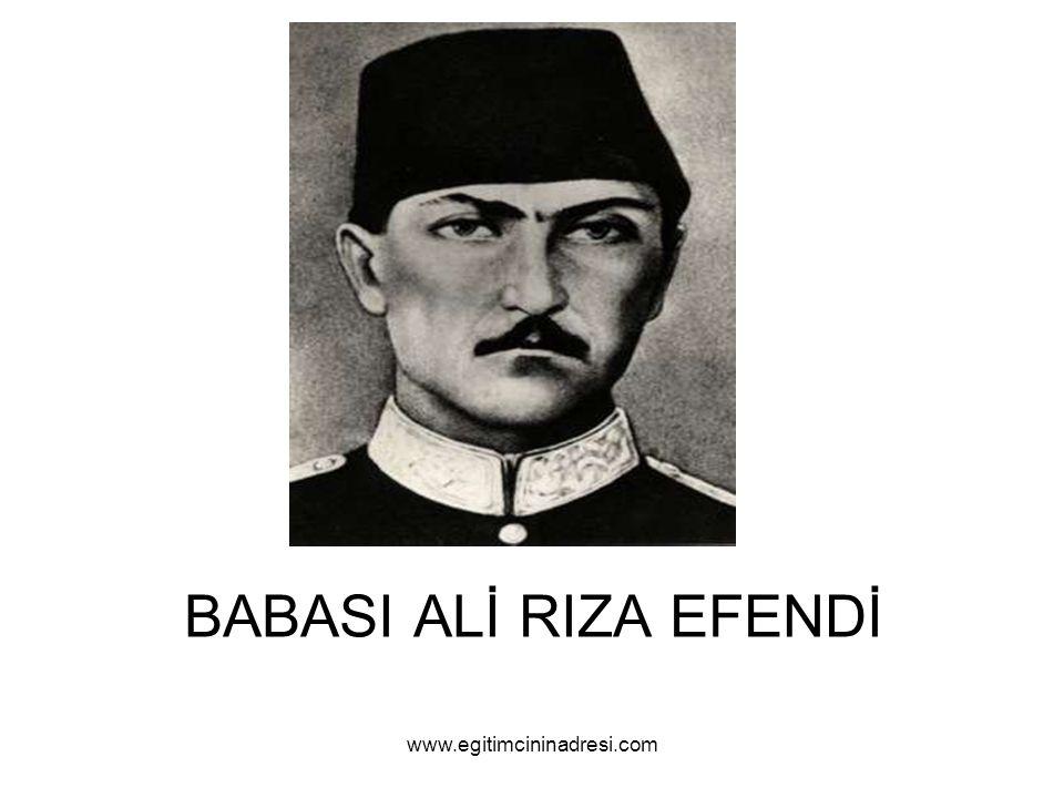 BABASI ALİ RIZA EFENDİ www.egitimcininadresi.com