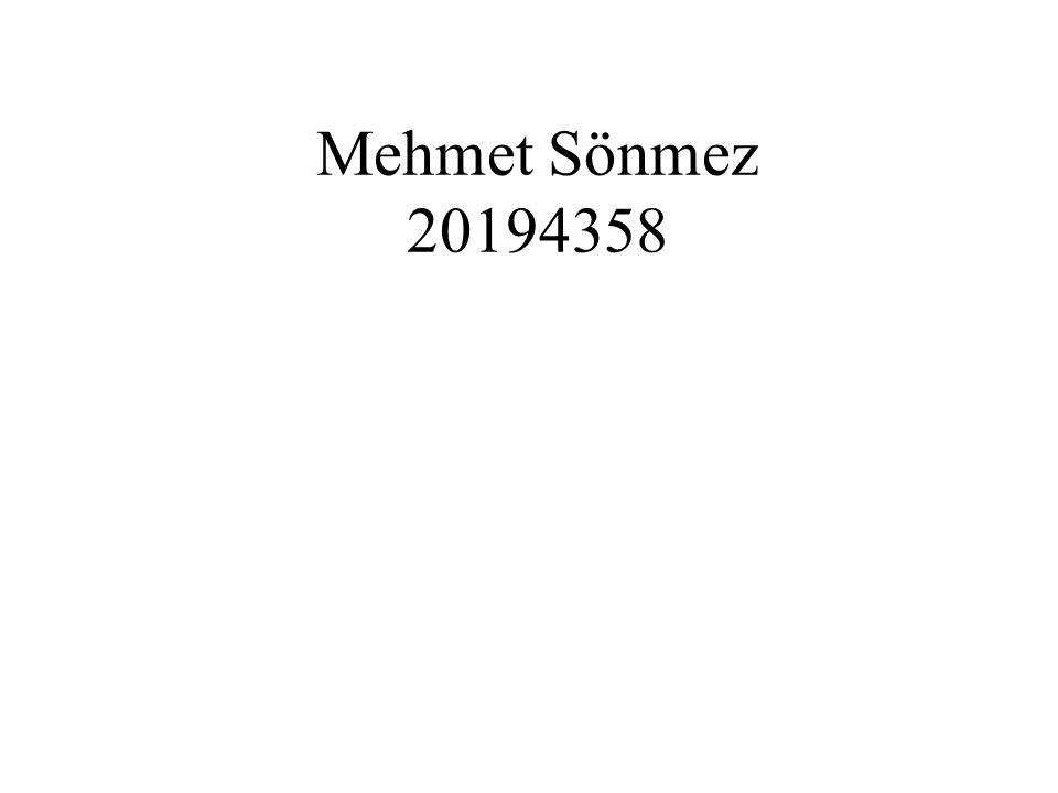 Mehmet Sönmez 20194358