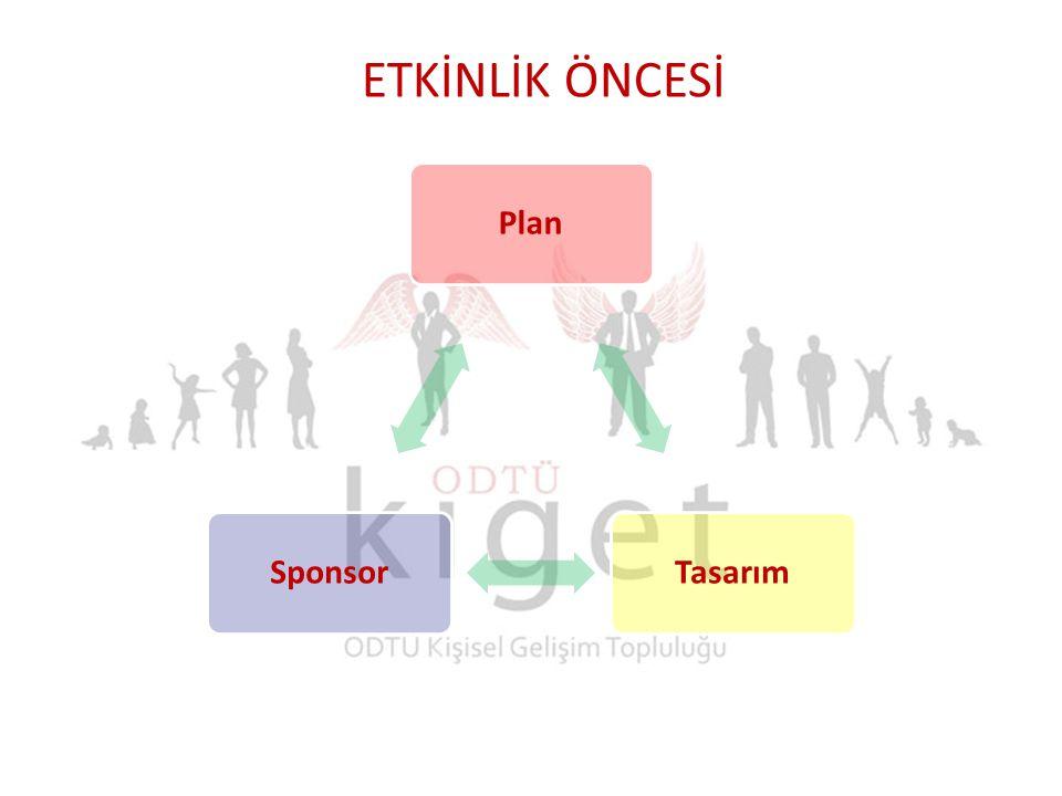 PlanTasarımSponsor ETKİNLİK ÖNCESİ