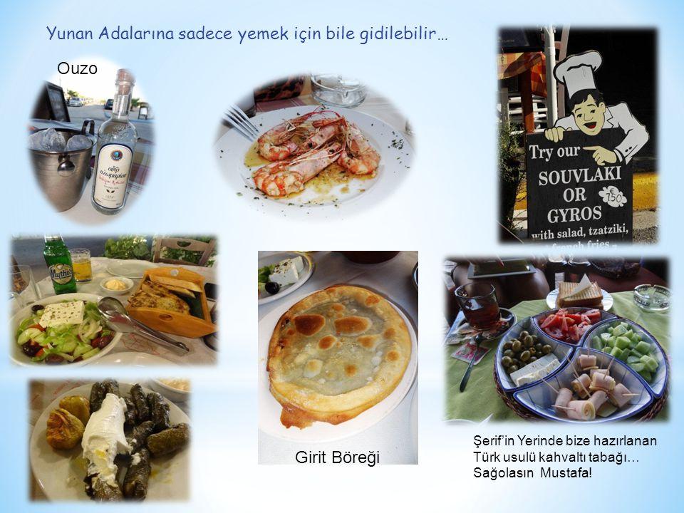 Yunan Adalarına sadece yemek için bile gidilebilir… Girit Böreği Ouzo Şerif'in Yerinde bize hazırlanan Türk usulü kahvaltı tabağı… Sağolasın Mustafa!