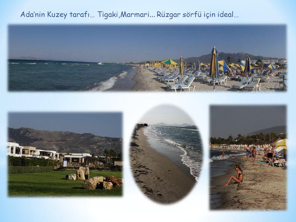 Ada'nin Kuzey tarafı… Tigaki,Marmari... Rüzgar sörfü için ideal…