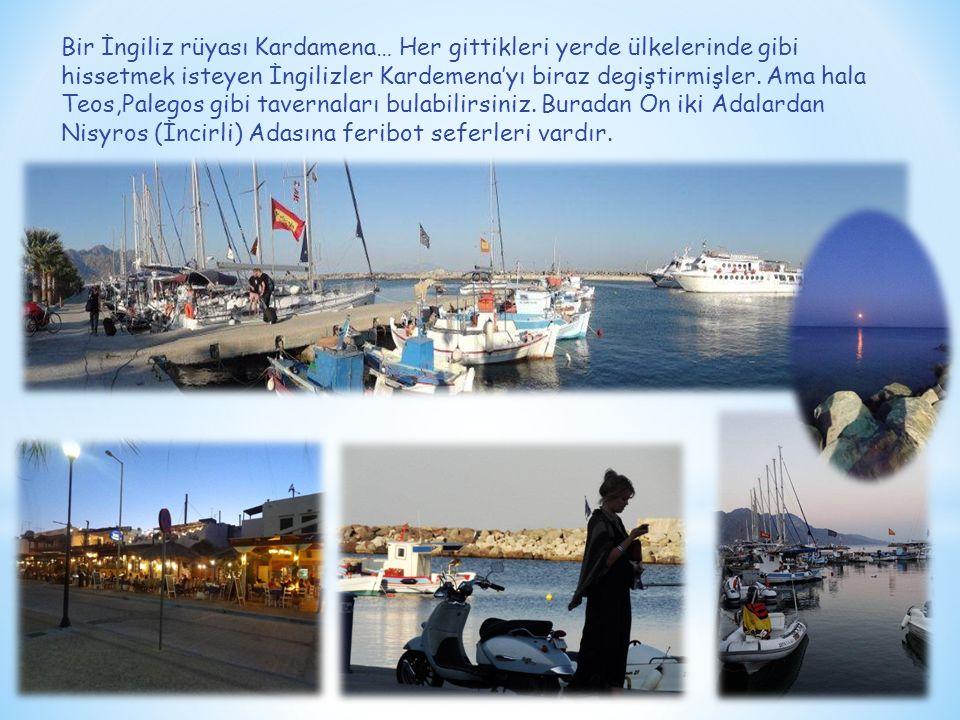 Bir İngiliz rüyası Kardamena… Her gittikleri yerde ülkelerinde gibi hissetmek isteyen İngilizler Kardemena'yı biraz degiştirmişler.