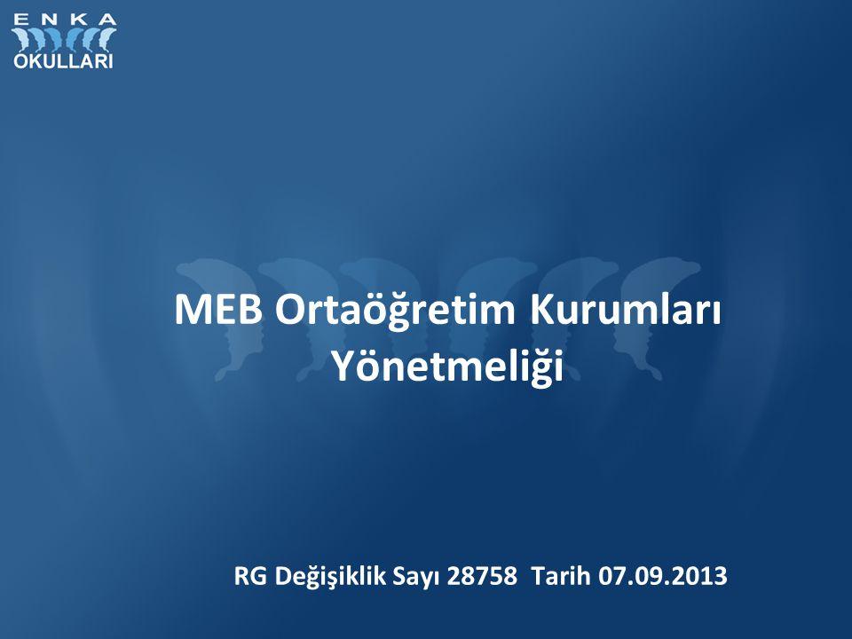 MEB Ortaöğretim Kurumları Yönetmeliği Özürsüz devamsızlık 10 gün olarak değiştirilmiştir.