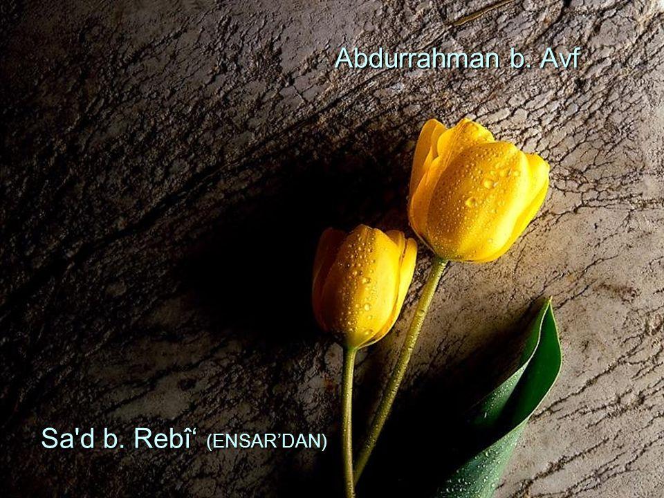 Abdurrahman b. Avf Sa'd b. Rebî' (ENSAR'DAN) Abdurrahman b. Avf Sa'd b. Rebî' (ENSAR'DAN)