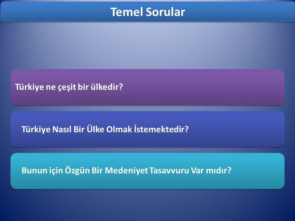 Türkiye ne çeşit bir ülkedir.Türkiye Nasıl Bir Ülke Olmak İstemektedir.
