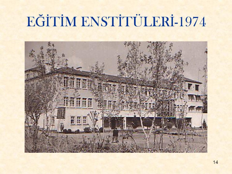 14 E Ğİ T İ M ENST İ TÜLER İ -1974