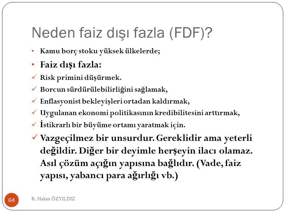Neden faiz dışı fazla (FDF).