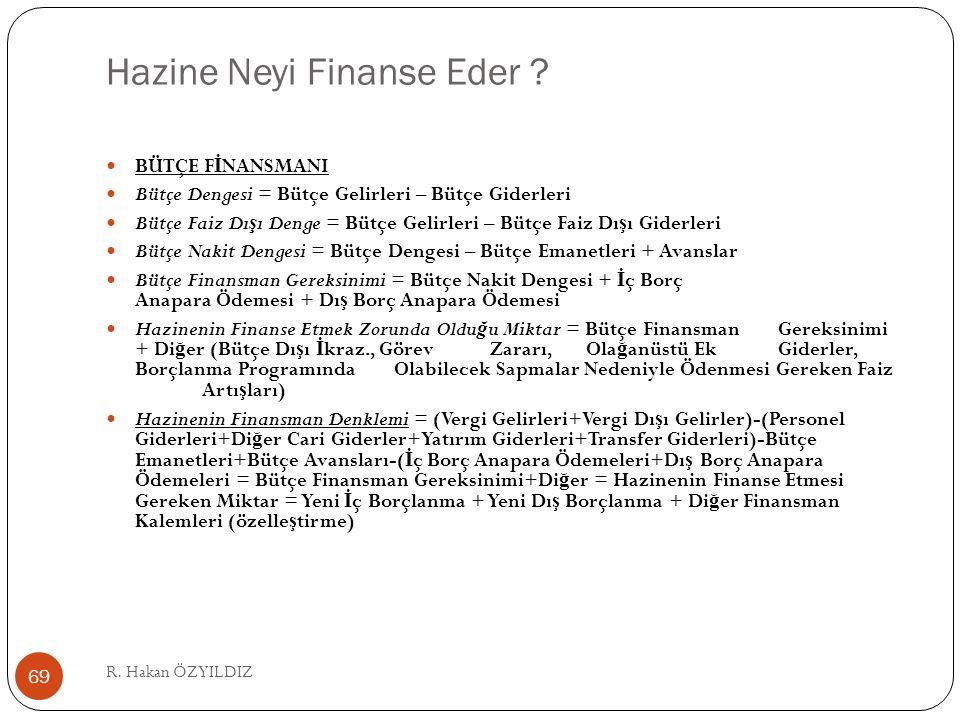 Hazine Neyi Finanse Eder .