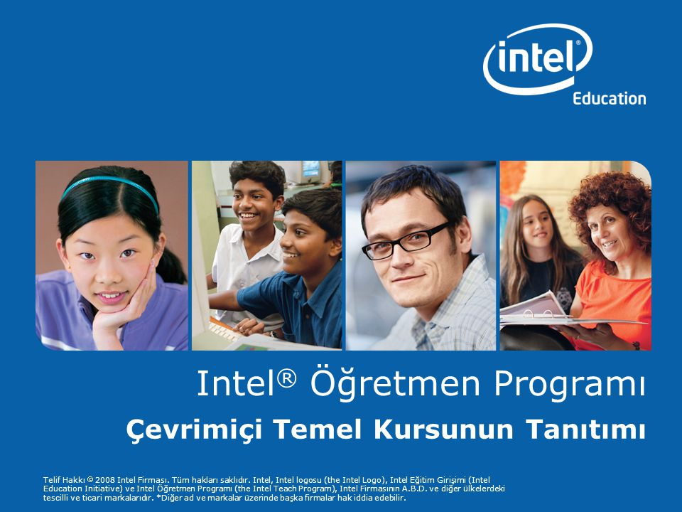 Programs of the Intel Education Initiative are funded by the Intel Foundation and Intel Corporation.