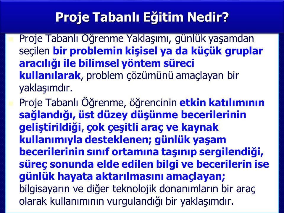 PROJE TABANLI EĞİTİM DEĞERLENDİRME RAPORU (Birayati 2013, 3.