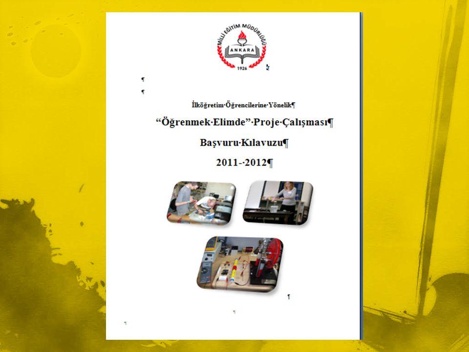 Projenin Akış Şeması Başvuruların Başlangıç ve Bitişi 14 Ekim 2011 – 02 Aralık 2011 Projelerin Değerlendirilmesi 05 Aralık 2011 – 16 Aralık 2011 Sonuçların Açıklanması 19 Aralık 2011 Projelerin Sergilenmesi ve Ödül Töreni 26 Aralık 2011