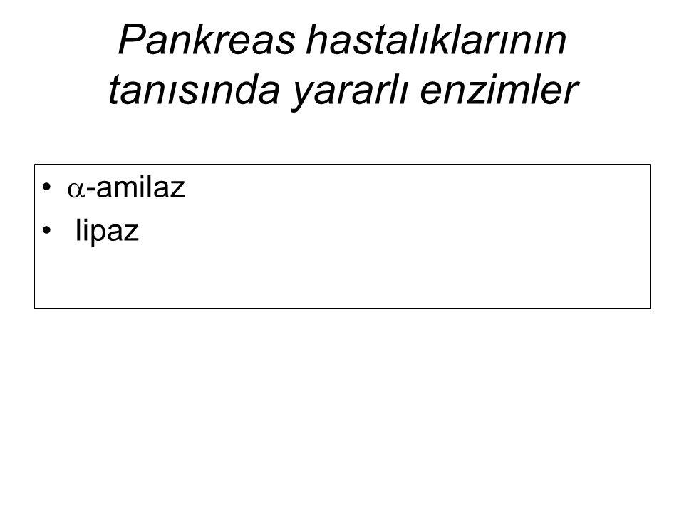 Pankreas hastalıklarının tanısında yararlı enzimler  -amilaz lipaz