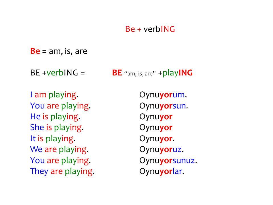 FİİLLERE –ING EKLERKEN UYULMASI GEREKEN KURALLAR: 1.Eğer bir fiil -e harfi ile bitiyorsa VE -e den önceki harf de SESSİZ ise -e düşer.