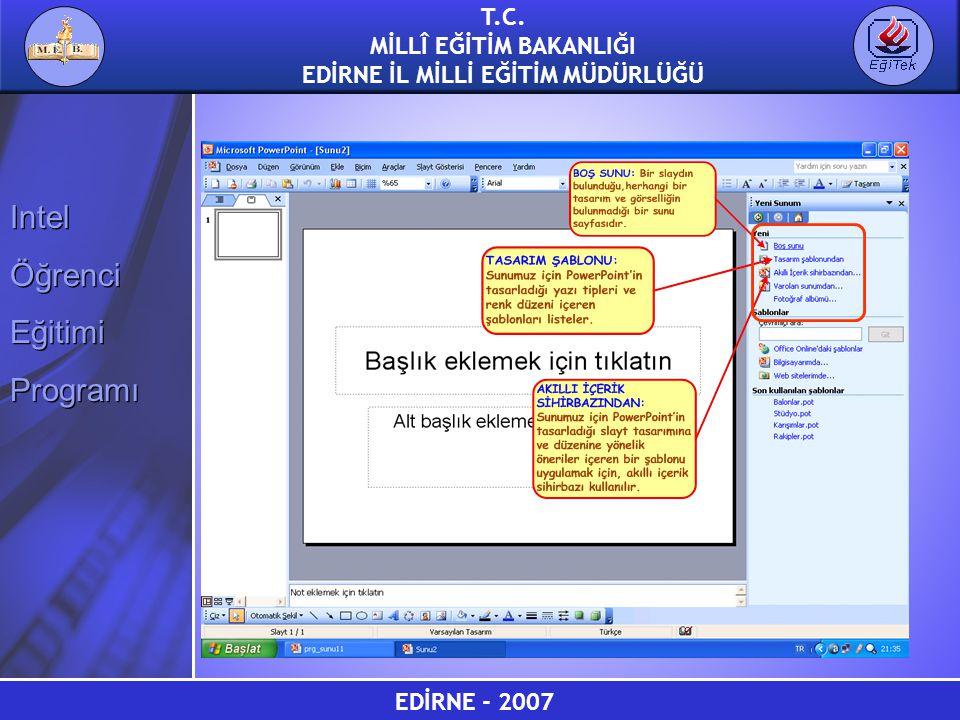 EDİRNE - 2007 T.C.