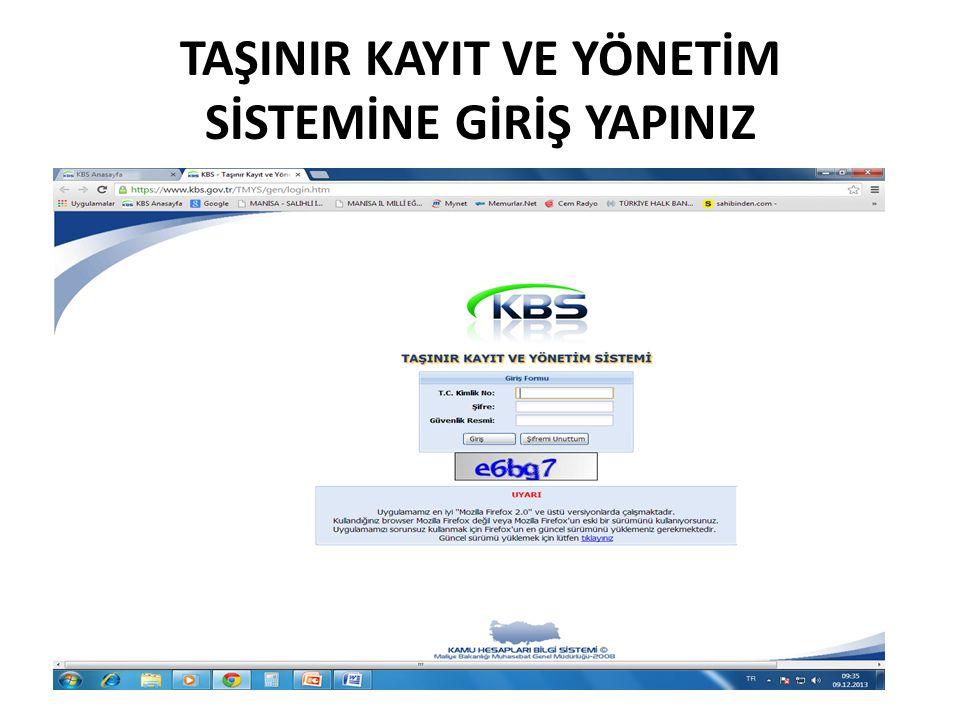 TKYS İŞLEMLERİ BİTMİŞTİR.