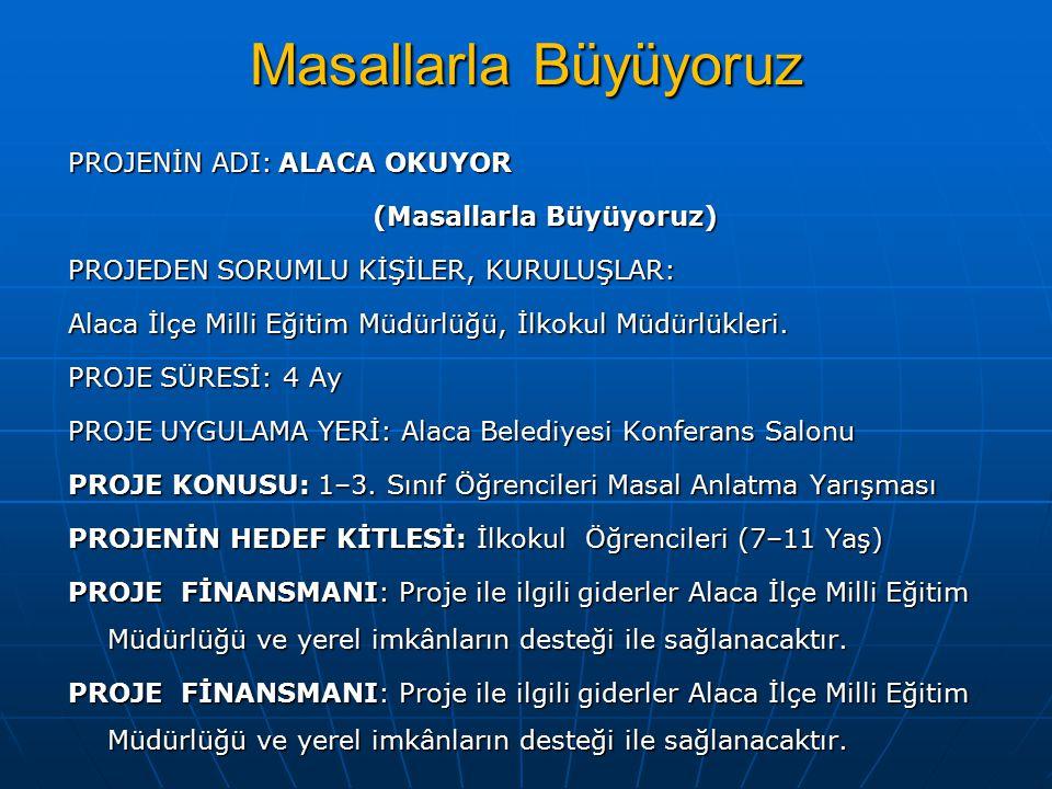 PROJENİN AMACI 1.
