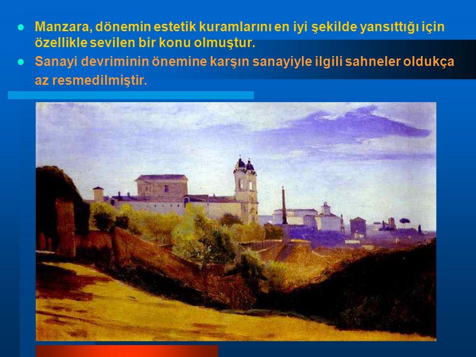 Manzara, dönemin estetik kuramlarını en iyi şekilde yansıttığı için özellikle sevilen bir konu olmuştur. Sanayi devriminin önemine karşın sanayiyle il