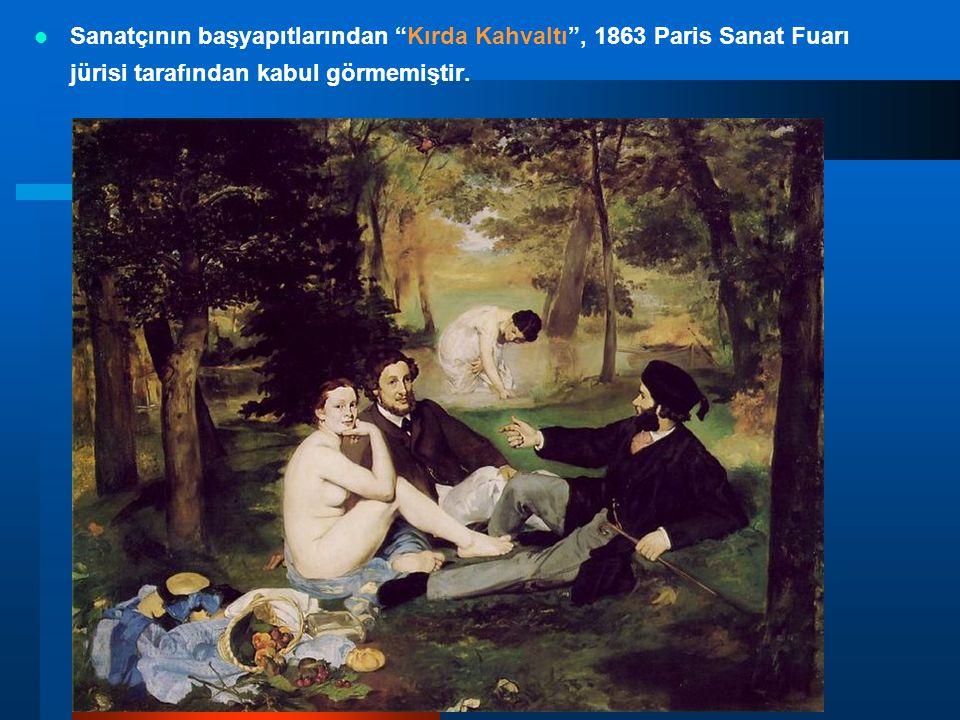 """Sanatçının başyapıtlarından """"Kırda Kahvaltı"""", 1863 Paris Sanat Fuarı jürisi tarafından kabul görmemiştir."""