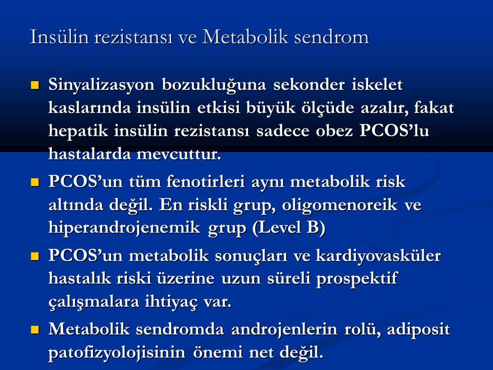 Insülin rezistansı ve Metabolik sendrom Sinyalizasyon bozukluğuna sekonder iskelet kaslarında insülin etkisi büyük ölçüde azalır, fakat hepatik insüli