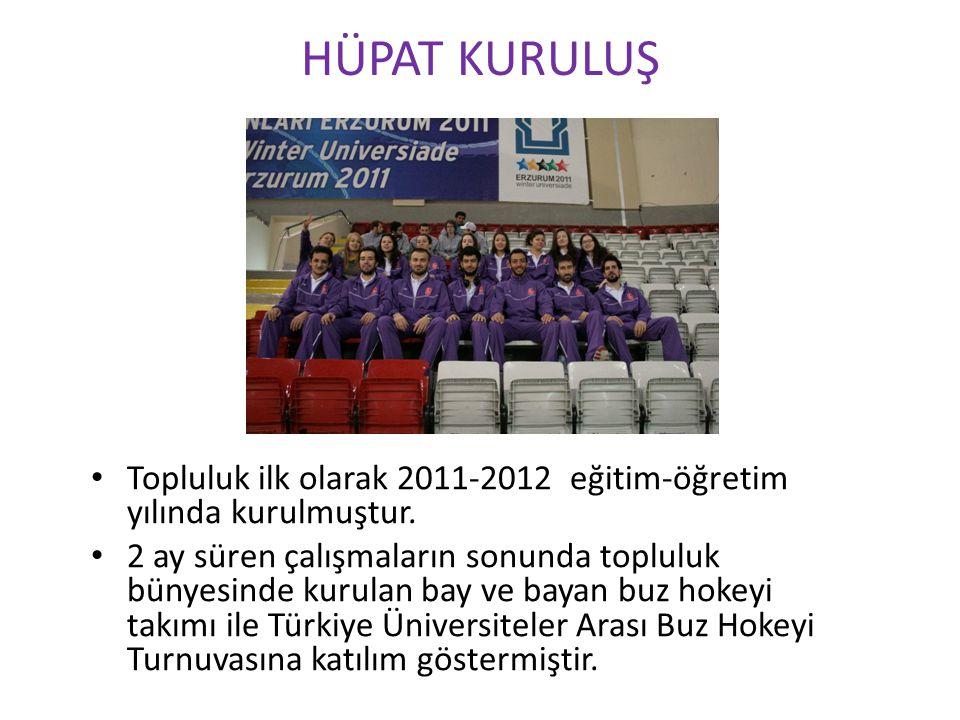 HÜPAT KURULUŞ Topluluk ilk olarak 2011-2012 eğitim-öğretim yılında kurulmuştur. 2 ay süren çalışmaların sonunda topluluk bünyesinde kurulan bay ve bay