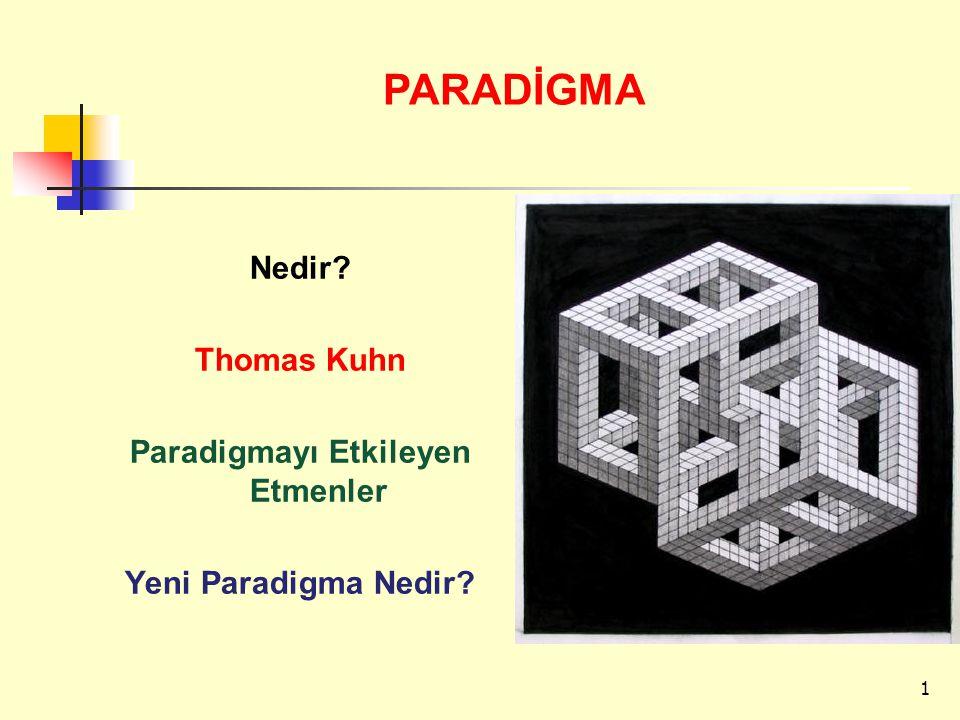 Nedir? Thomas Kuhn Paradigmayı Etkileyen Etmenler Yeni Paradigma Nedir? PARADİGMA 1