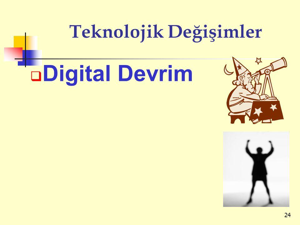 Teknolojik Değişimler  Digital Devrim 24