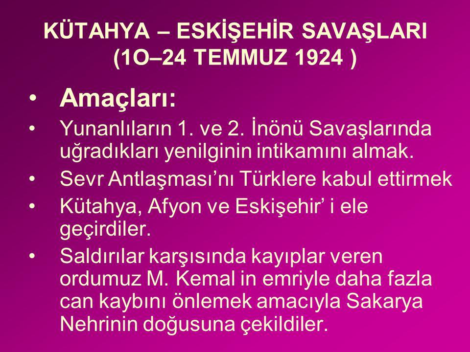 """""""Siz orada sadece düşmanı değil, milletin maküs talihini de yendiniz"""" Mustafa Kemal TBMM Başkanı"""