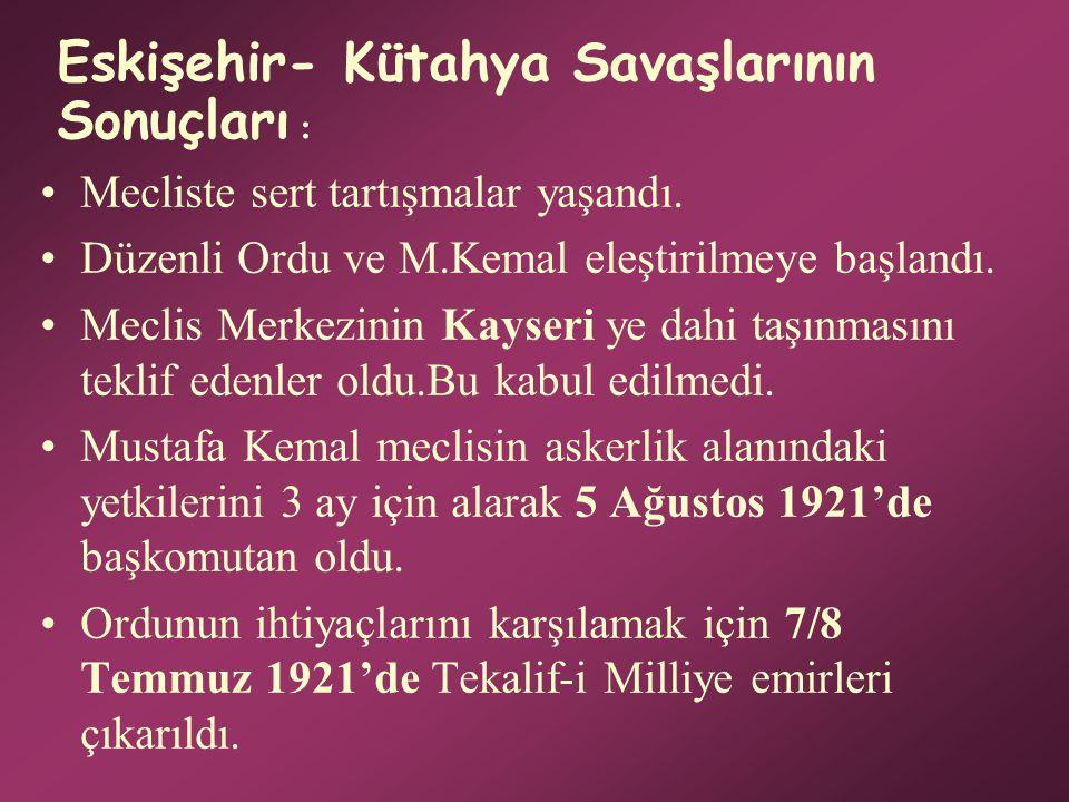 Türk Ordusunun Sakarya Nehrinin Doğusuna Çekilmesinin Nedenleri Şunlardır: Zaman kazanarak yeniden derlenip, toparlanmak. Daha fazla kayıp verilmesini