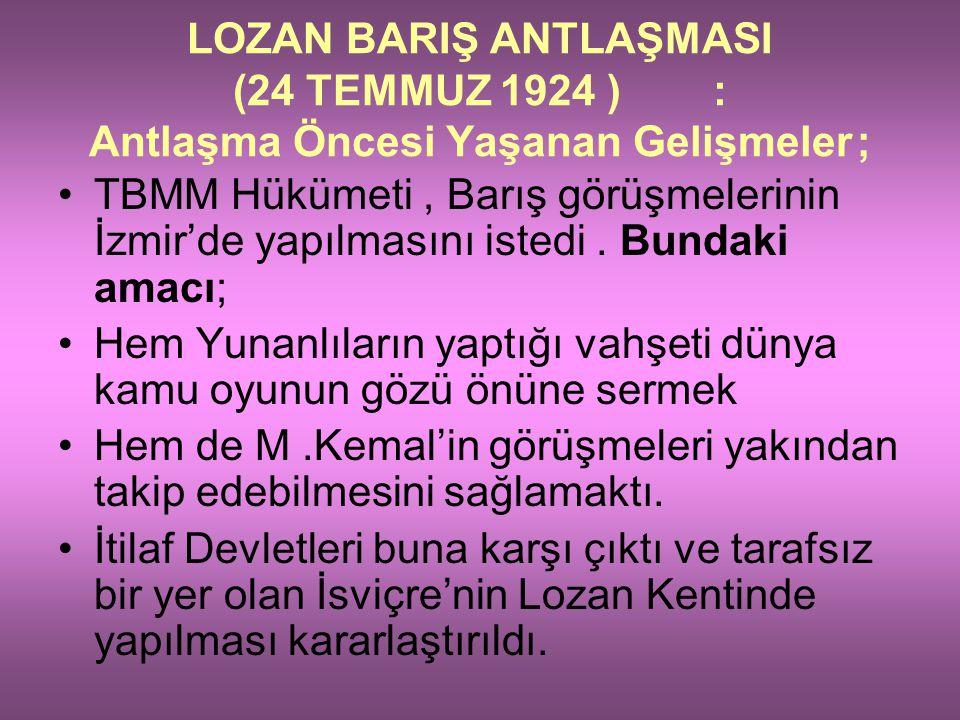 Karaağaç hariç yaklaşık bugünkü Türk – Yunan sınırı belirlenmiştir (Karaağaç ta Lozan Antlaşmasından sonra Türkiye'ye katılacaktır). İsmet Paşanın eld