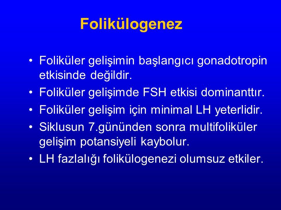 Foliküler gelişimin başlangıcı gonadotropin etkisinde değildir.