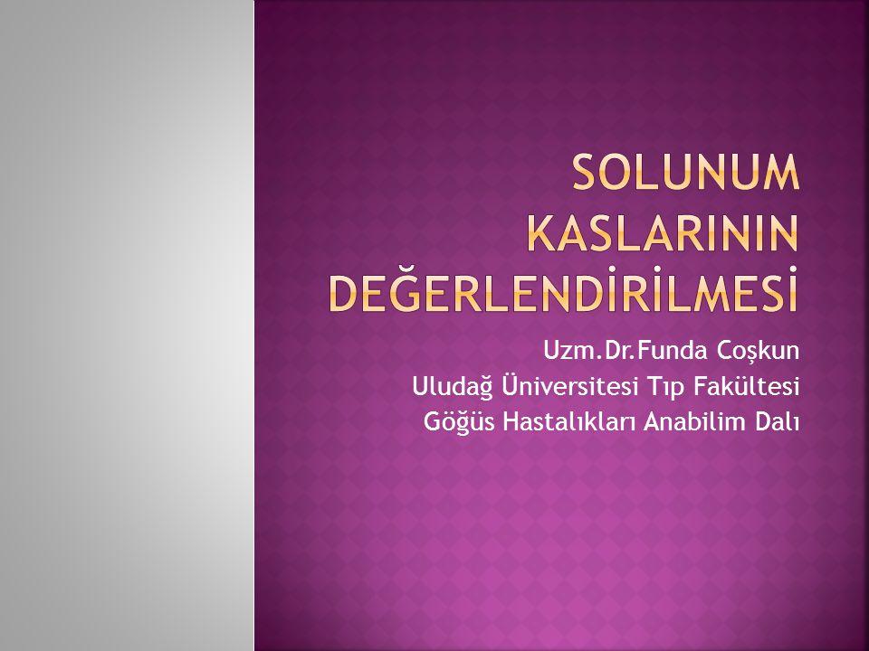 Uzm.Dr.Funda Coşkun Uludağ Üniversitesi Tıp Fakültesi Göğüs Hastalıkları Anabilim Dalı