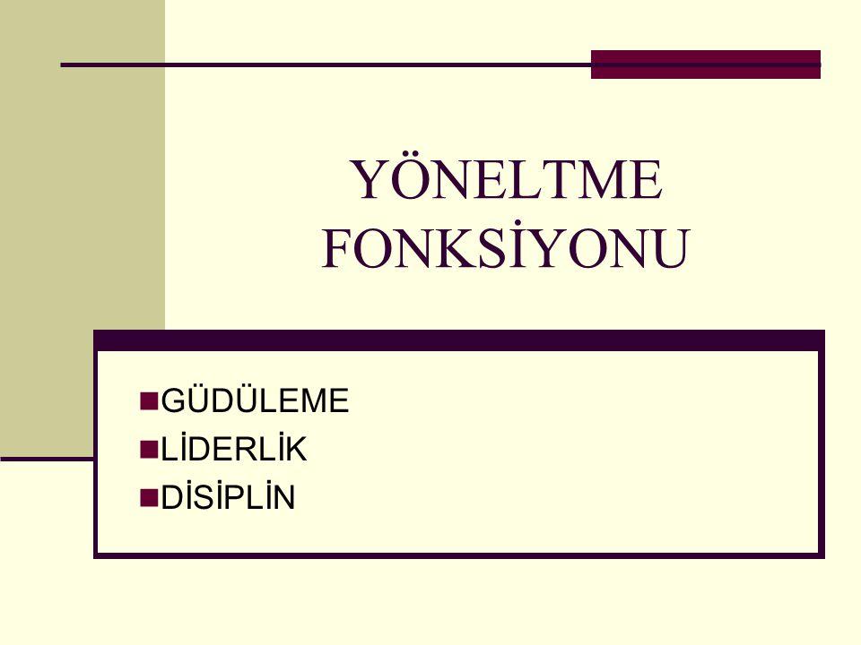 Şebnem Yaşar- Feyza Tekinbaş2 Yöneltme Yöneltme, örgütün amaç ve hedeflerinin gerçekleştirilmesi için işgörene iş verme, rehberlik etme faaliyetidir.