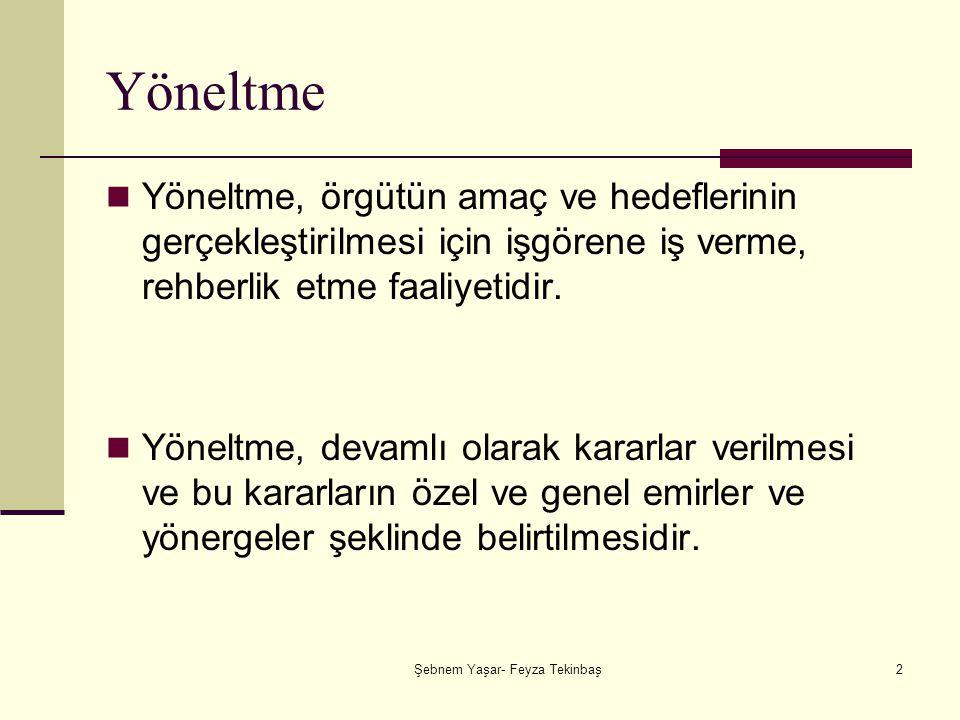Şebnem Yaşar- Feyza Tekinbaş23 Serbest Bırakıcı Liderlik: Lider herkese hoş görünmeye çalışır.
