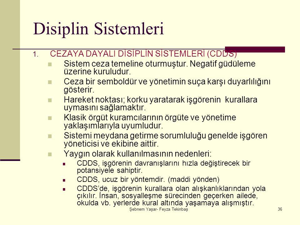 Şebnem Yaşar- Feyza Tekinbaş36 Disiplin Sistemleri 1.