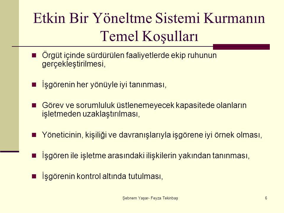 Şebnem Yaşar- Feyza Tekinbaş37 CDDS'nin Temel Sorunları İşgören cezalandırılma korkusuyla çalışır: Bu durumda savunma konumuna geçen işgören, yalan söylemeye, yaptıklarını inkar etmeye, hazırdır.