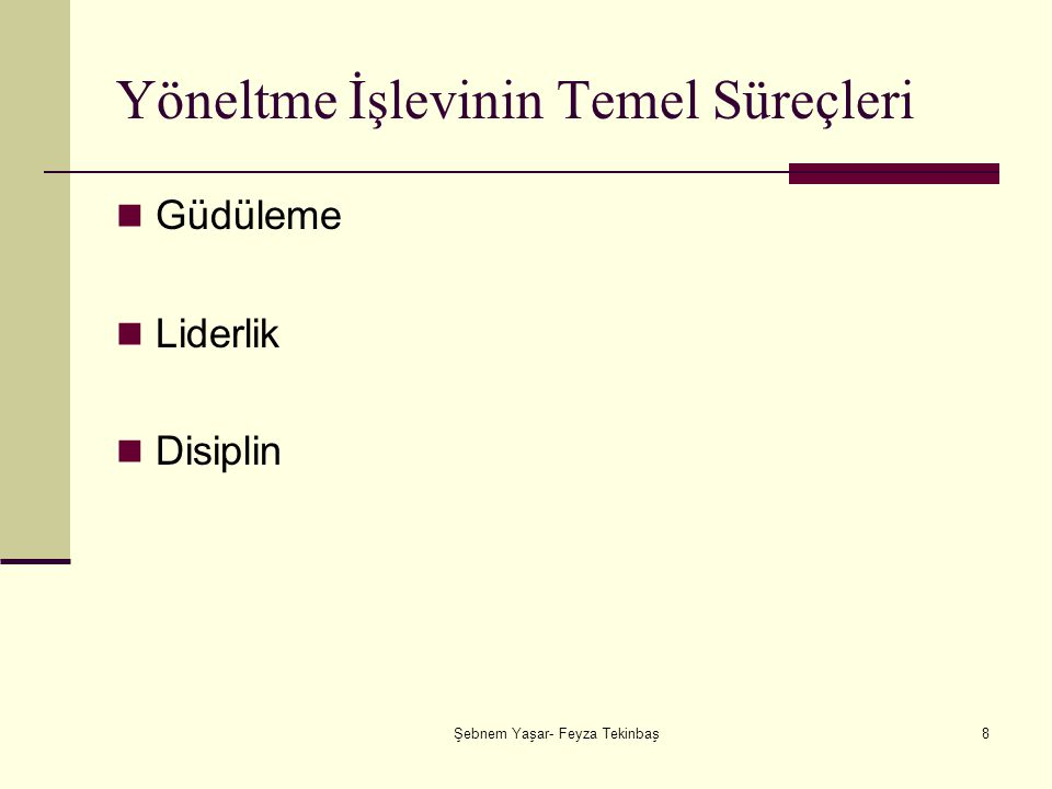 Şebnem Yaşar- Feyza Tekinbaş29 Blake ve Mouton'un Yönetim Skalası 1.9.