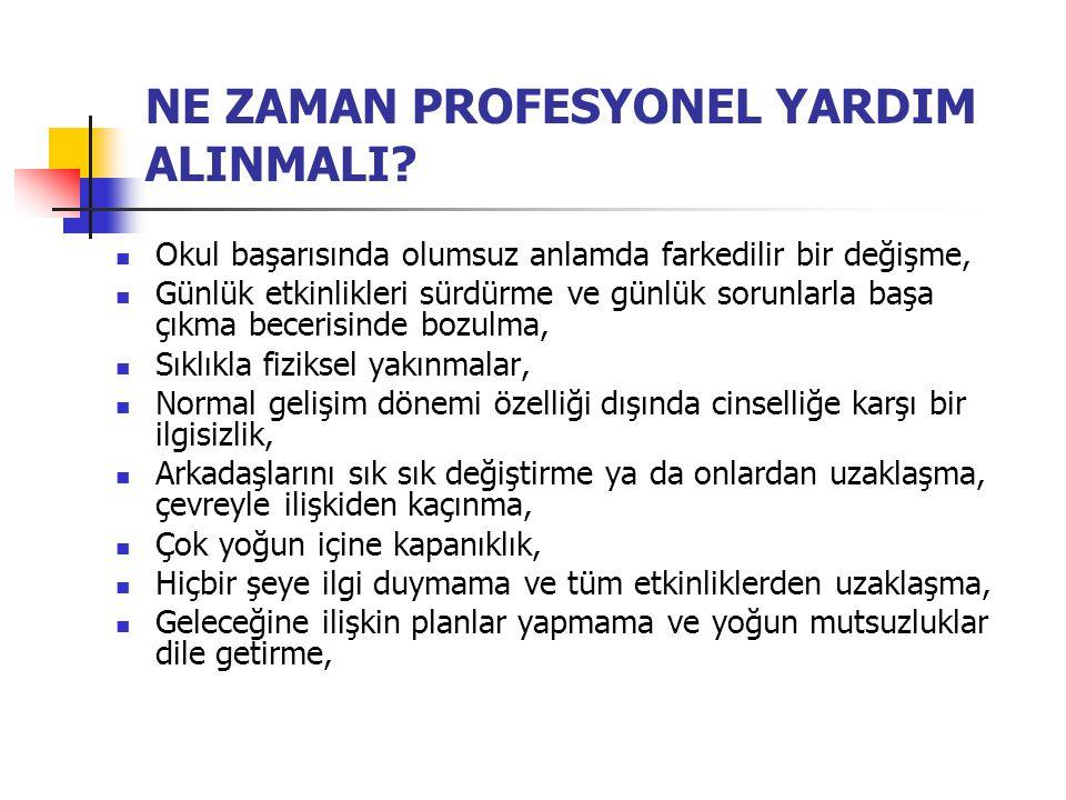NE ZAMAN PROFESYONEL YARDIM ALINMALI.