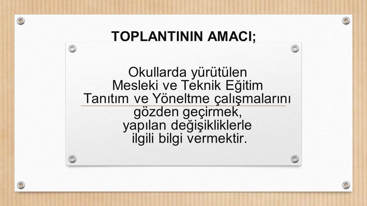 Ankara il komisyonu her ilçenin bir meslek alanını tanıtmasını istemektedir.