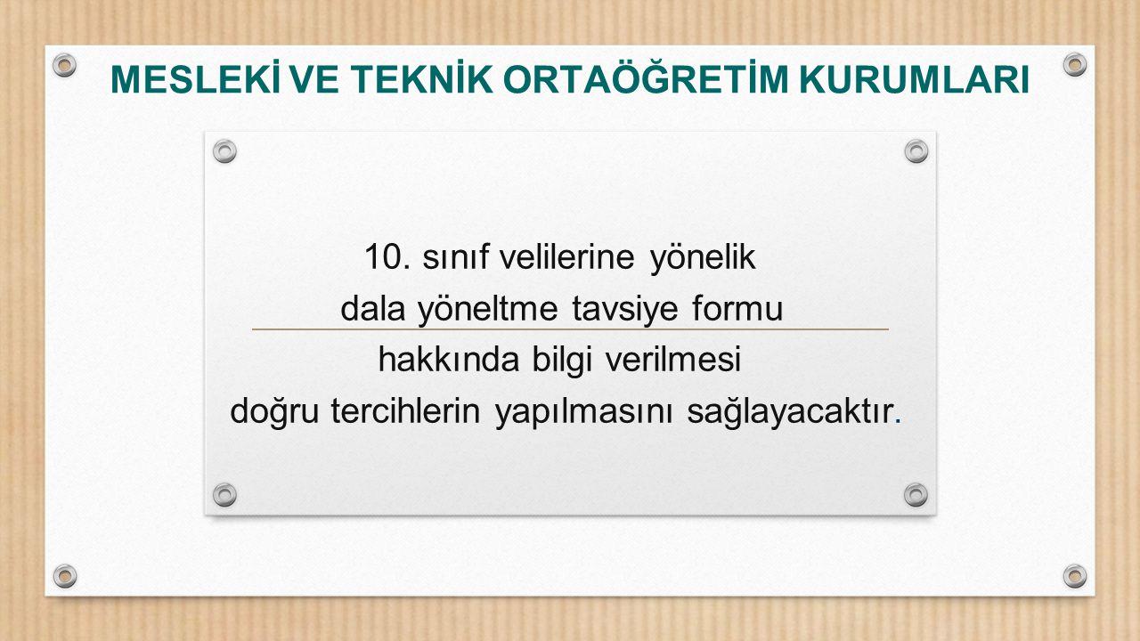 MESLEKİ VE TEKNİK ORTAÖĞRETİM KURUMLARI 10.