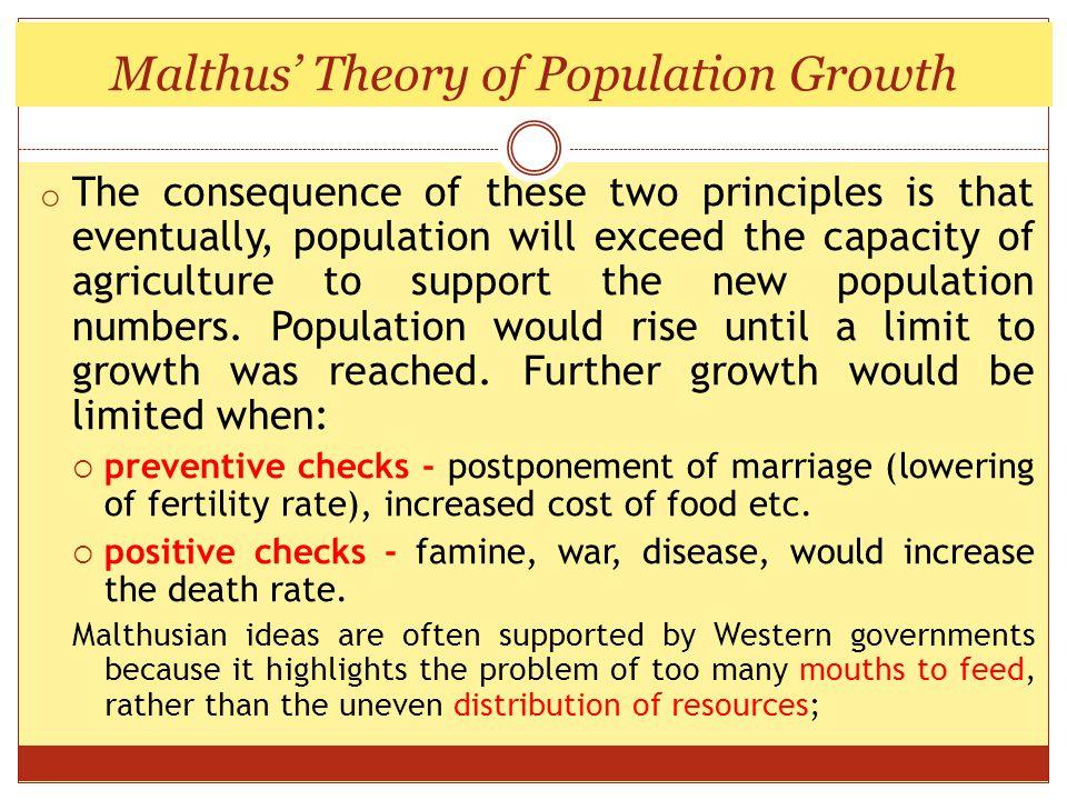 Population grows geometrically….