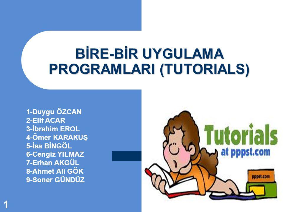 Öğretici Programların Genel Yapısı 12