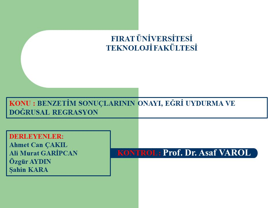 FIRAT ÜNİVERSİTESİ TEKNOLOJİ FAKÜLTESİ DERLEYENLER: Ahmet Can ÇAKIL Ali Murat GARİPCAN Özgür AYDIN Şahin KARA KONTROL : Prof. Dr. Asaf VAROL KONU : BE