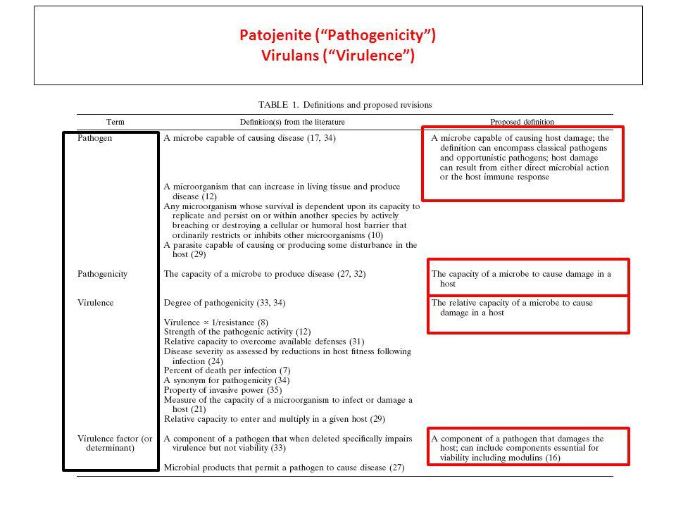 Patojenite ( Pathogenicity ) Virulans ( Virulence )