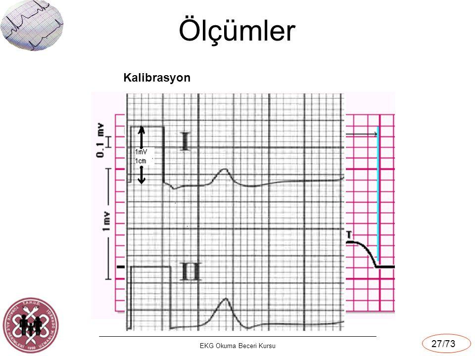 EKG Okuma Beceri Kursu 27/73 Ölçümler Kalibrasyon